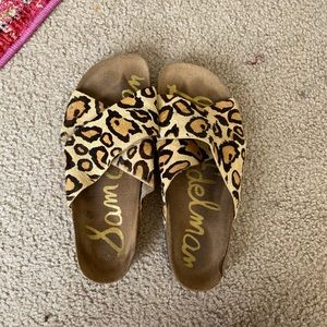 Sam Edelman cheetah/leopard sandals